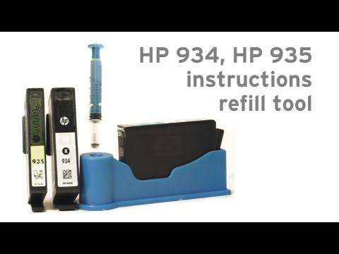 How to refill HP 934 HP 935 refill tool HP Officejet Pro 6320. Pro 6820. Pro 6830