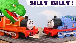 Thomas and Friends Billy meets a Dinosaur with the funny Funlings and Annie and Clarabel