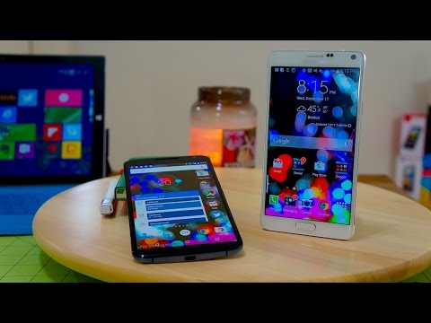 Nexus 6 vs Note 4: Google vs Galaxy