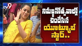 Dubsmash queen Mirnalini 'Kirak Teenmar Dance' on Ganesh immersion - TV9