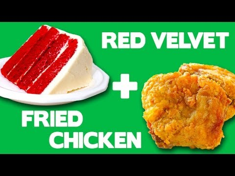 Red Velvet Fried Chicken - Food Mashups