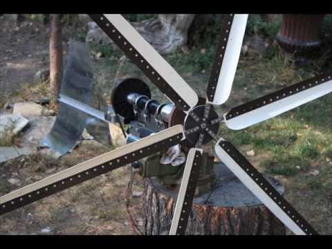 Part 4 Grooved Belt Treadmill Motor Wind Turbine Generator DC PVC Blades Gear up PMA