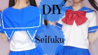 DIY Transfer T Shirt to Seifuku/Cat Seifuku | Japanese School Uniform
