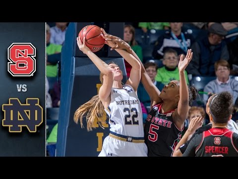 NC State vs. Notre Dame Women's Basketball Highlights (2015-16)