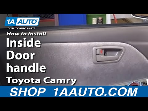 Replacement Entry Doors on How To Install Replace Inside Door Handle Toyota Camry 97 01 1a Auto