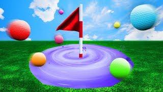 INTERGALACTIC HOLE IN ONE PORTAL! (Golf It)