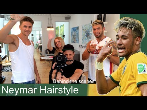 Neymar hairstyle World Cup Brazil 2014 | Behind the scenes |  Slikhaar Talk Show
