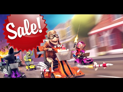 Coffin Dodgers for PS4 is now on sale! 4 player splitscreen kart racing game
