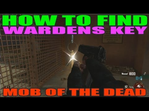 Mob Of The Dead: How To Find Warden Key- Both Locations (HD)