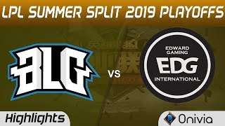 BLG vs EDG Highlights Game 1 LPL Summer 2019 Playoffs Bilibili Gaming vs Edward Gaming LPL Highlight