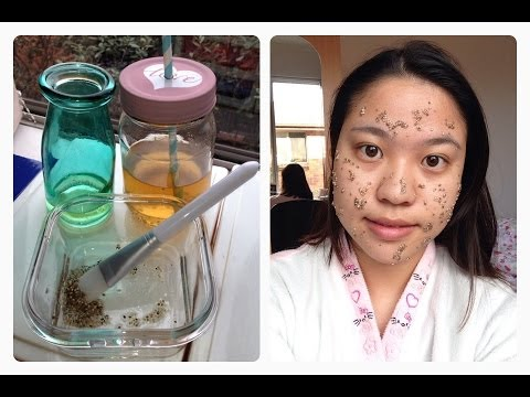 DIY chia seed mask pack + detoxifying toner and drink