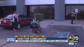 ABC15 uncovers surprise about group sweeping Valley with ADA lawsuits