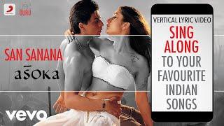 San Sanana - Asoka|Official Bollywood Lyrics|Alka Yagnik|Hema Sardesai