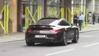 Porsche 911 Turbo S Acceleration and afterburn sound