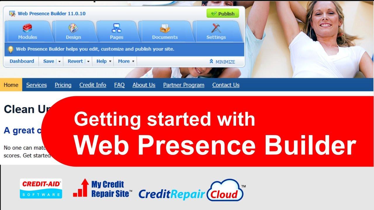 Web presence builder как сделать