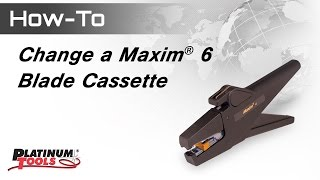 How to Change Maxim 6 Blade Cassette