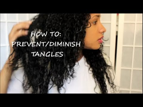 HOW TO: PREVENT / DIMINISH TANGLES & FRIZZ ON CURLY HAIR ~