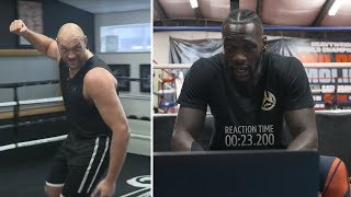 Deontay Wilder reacts to Tyson Fury mocking his punching technique