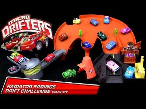 :) Micro Drifters Radiator Springs Drift Challenge Track Playset Cars 2 Disney Drifting Racing