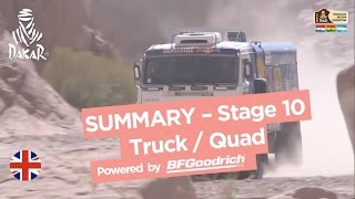 Stage 10 Summary - Quad/Truck - (Chilecito / San Juan) - Dakar 2017