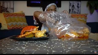 MUKBANG SEAFOOD BOIL | KING CRAB LEGS, SHRIMP & LOBSTER TAIL