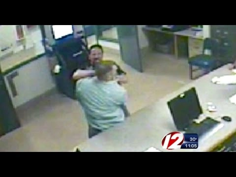 Caught On Tape: Massachusetts Police Officer With Violent History Brutally Attacks Suspect!! video