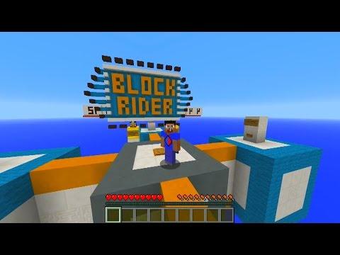 Minecraft 1.8 BLOCK RIDER Parkour with Vikkstar (Minecraft Parkour)