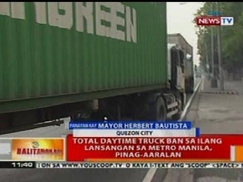 BT: Total daytime truck ban sa ilang lansangan sa Metro Manila, pinag-aaralan