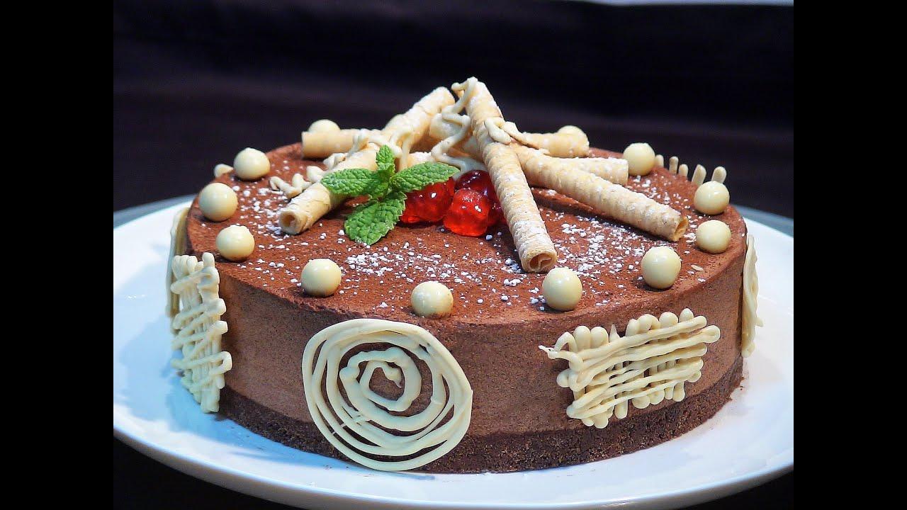 Receta Tarta Cremosa De Chocolate Tipo Mousse Sin
