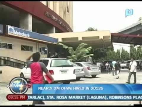 NewsLife: Nearly 2-M OFWs hired in 2012