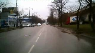 Russia Brutal Car Crash when turning left