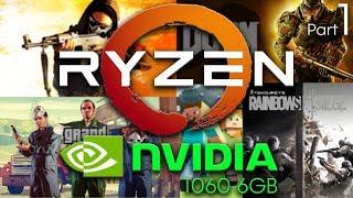 Ryzen 5 1500x + GTX 1060 6gb   1080p   Benchmark #1
