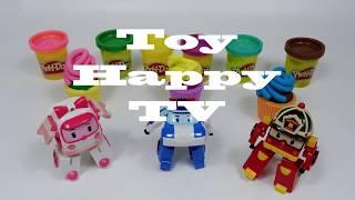 PlayDoy Cupcake and Egg Toy Robocar Poli