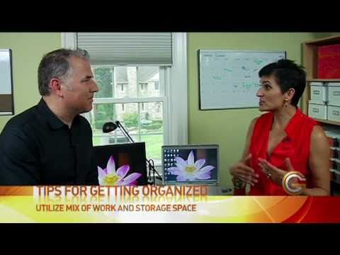 Clare Kumar, Professional Organizer, and Mike Agerbo, host of GetConnected TV, share tips for organizing your home office to be more productive, efficient an...