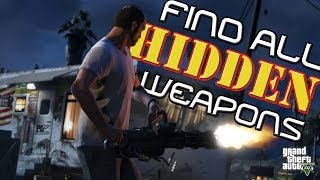 How to find a Minigun in GTA 5 ALL Hidden Guns and Armor # 4 - PDTV Gaming