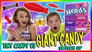 TINY CANDY VS GIANT CANDY SWITCH UP   We Are The Davises