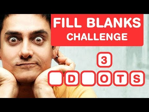 Aamir Khan Movies - Fill In The Blanks Challenge - Bollywood Puzzle