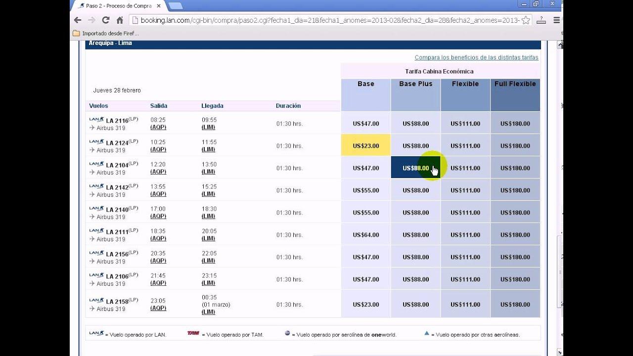 Como Comprar Pasajes en LAN por Internet - YouTube