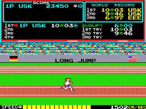 videogiochi anni 80\90 – Track and field with cheat – con trucchi