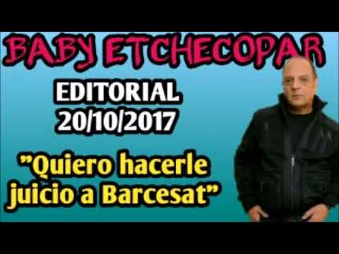 BABY ETCHECOPAR - ATIENDE A EDUARDO BARCESAT EDITORIAL 20/10/2017