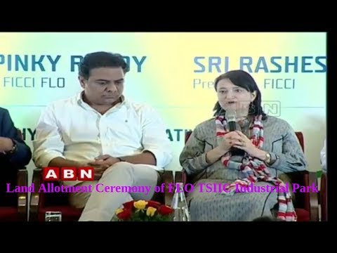 Land Allotment Ceremony of FLO TSIIC Industrial Park   Minister KTR