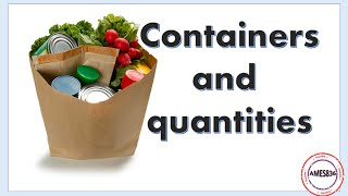 Containers and quantities: English Language