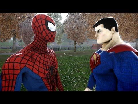 SPIDERMAN VS SUPERMAN - THE AMAZING SPIDER-MAN VS MAN OF STEEL