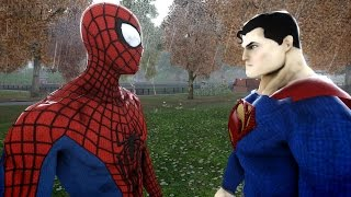 SPIDERMAN VS SUPERMAN - THE AMAZING SPIDER-MAN VS MAN OF STEEL