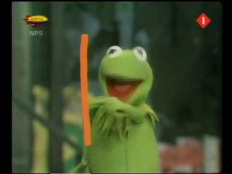 Sesamstraat - Kermit tekent een K