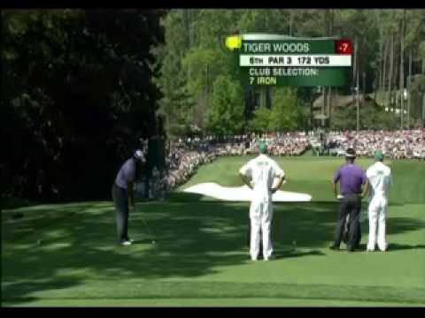 Tiger Woods losing his cool at Masters
