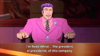 Ace attorney anime - Redd White's extravagant Engrish