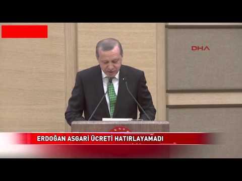 Recep Tayyip Erdoğan asgari ücretin ne kadar olduğunu bilemedi ..!