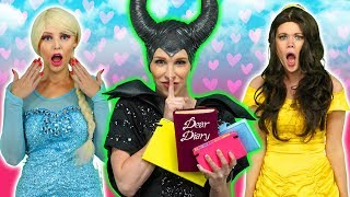 MALEFICENT STEALS DISNEY PRINCESS DIARIES. (Secrets from Elsa, Ariel, Belle, Rapunzel and Anna)