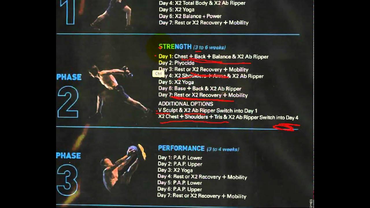 P90x2 Workout Schedule Pdf P90x2 Workout Schedule Step